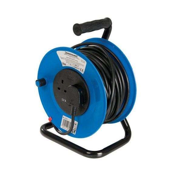 Silverline-303754 Extension Cable Reel 25 Metre 13AMP - Sweeney Motor Factors