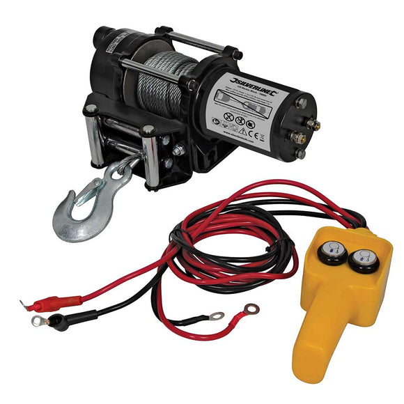 Silverline-748850 Electric Winch 12v 2000lb - Sweeney Motor Factors
