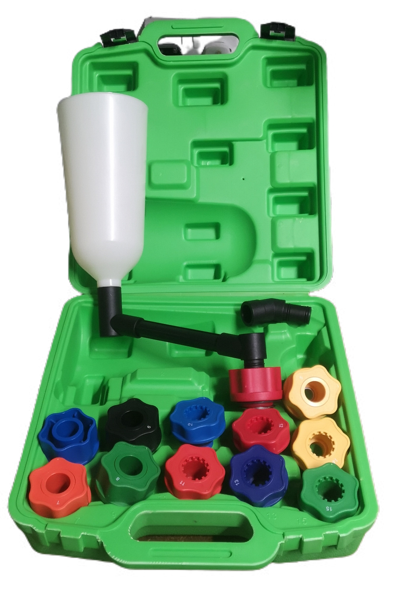 Oil Filling Set with Funnel and Adapters