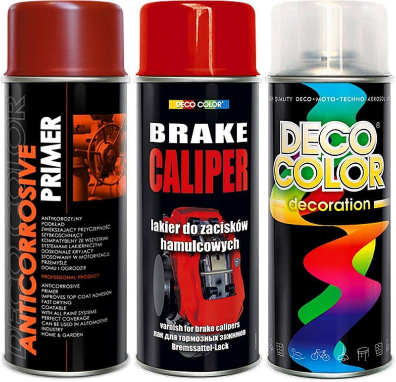 Brake Caliper Spray Paint 3pc Kit Red - Deco Color Ireland