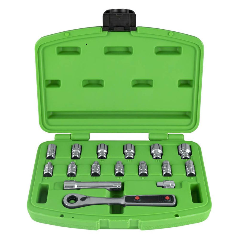 JBM-50623 17 Piece Socket Set with Stud Bolt Sockets-Sweeney Motor Factors