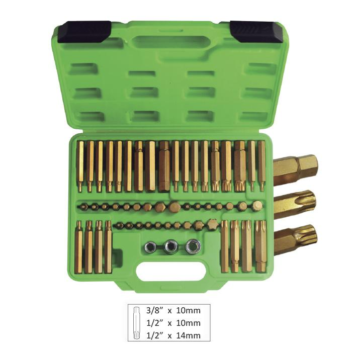 Case with 55 Torx Spline Allen Key Bits - Heavy Duty In Carry Case-Sweeney Motor Factors
