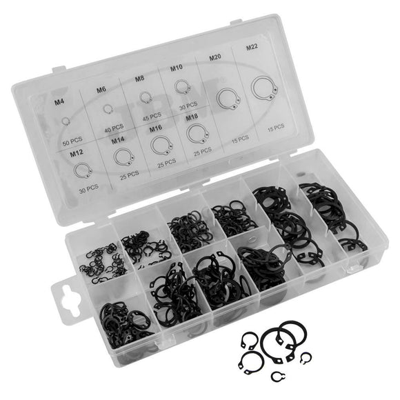 JBM-53383 External Circlip Snap Ring Assortment 300pc