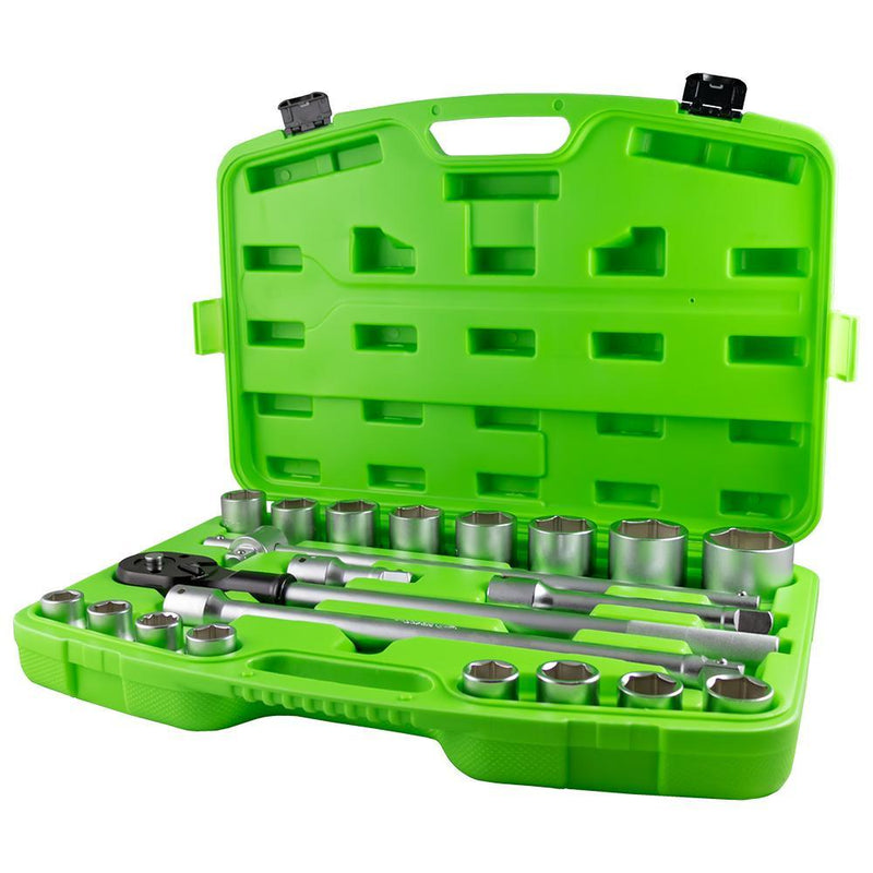 "JBM-53727 21 Piece Plastic Tool Case with 3/4"" Autocle 6-Point Sockets Additional View 1-Sweeney Motor Factors"
