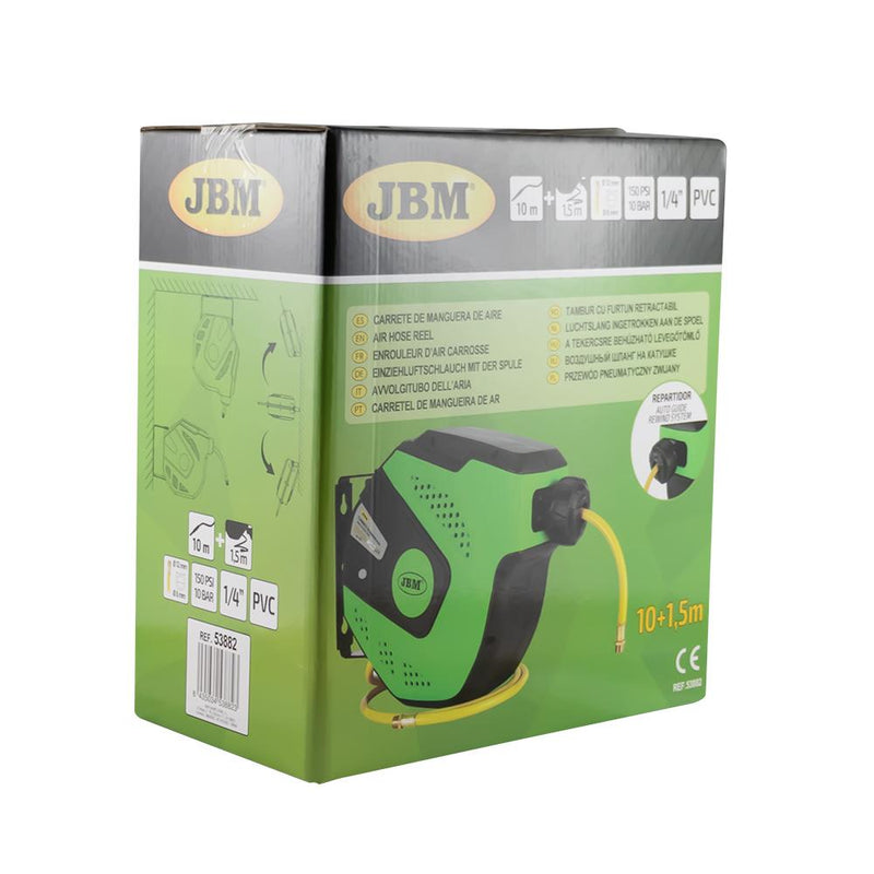 JBM-53882 11M Air Hose Reel With Retractable - Green Additional Image 2
