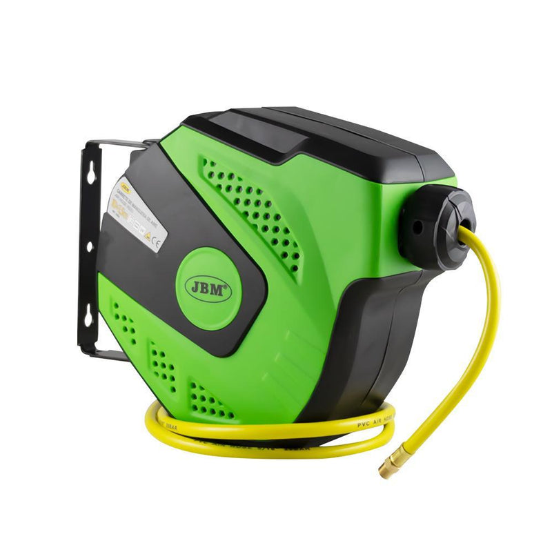 JBM-53882 11M Air Hose Reel With Retractable - Green