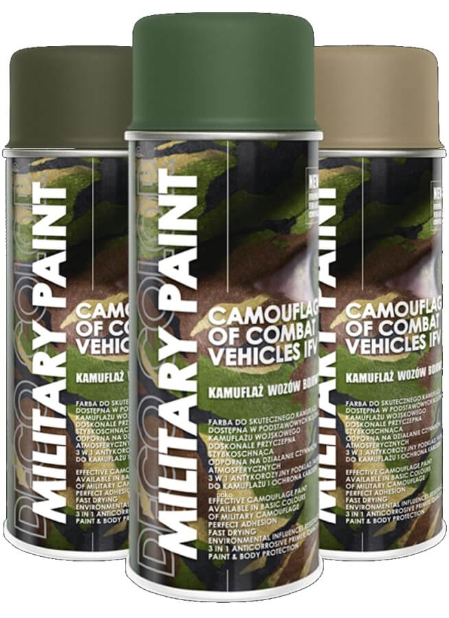 Deco Color-Military Spray Paint Anti Reflective Camouflage 400ml