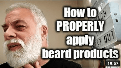 ASMR. How to properly apply beard products - George Bruno