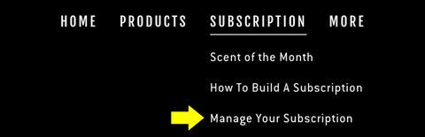 Manage Your Subscription Step 1