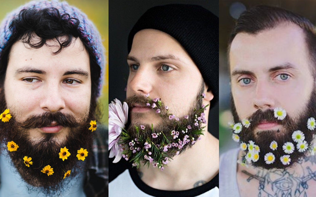 Flower Beards are another crazy beard style