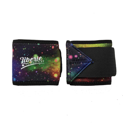 Liberte Lifestyles Galaxy Print Wrist Wraps Closed