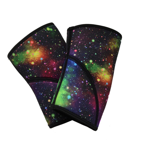 Liberte Lifestyles Reversible Unicorn Galaxy Print Knee Sleeves Reverse Side Pair