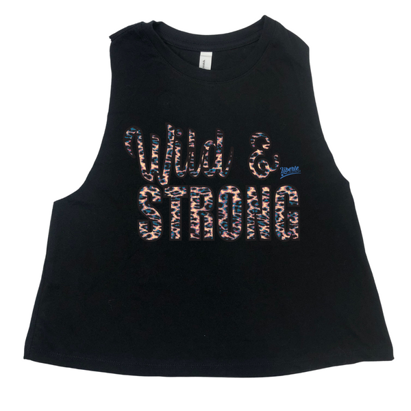 Wild and Strong Women's Crop Racerback Tank