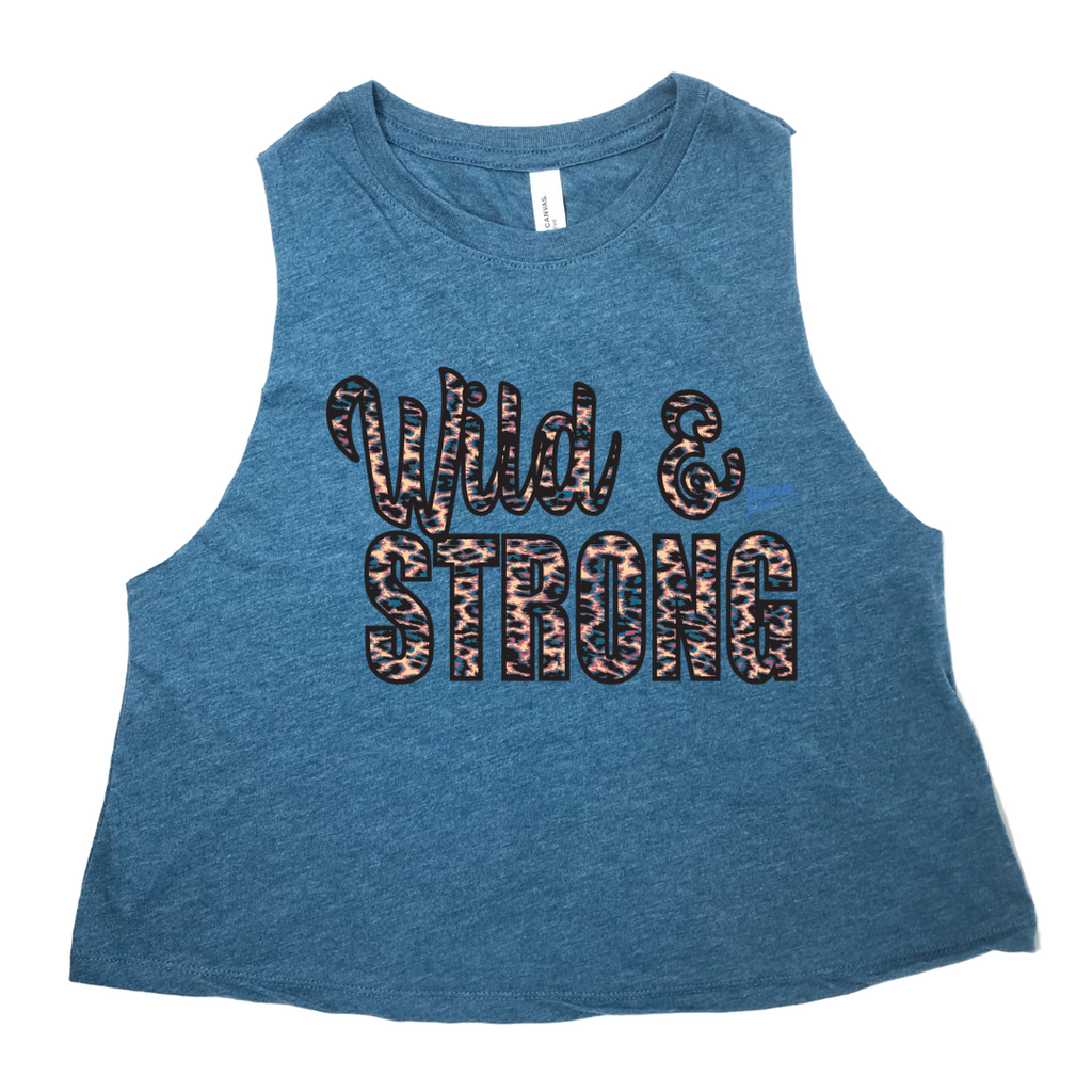 Liberte Lifestyles Fitness Gym Apparel Wild and Strong Crop Tank Top  Crossfit