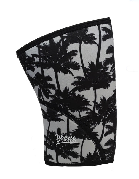 Liberte Lifestyles Reversible Knee Sleeves Hibiscus Skull Palm Beach Print Side