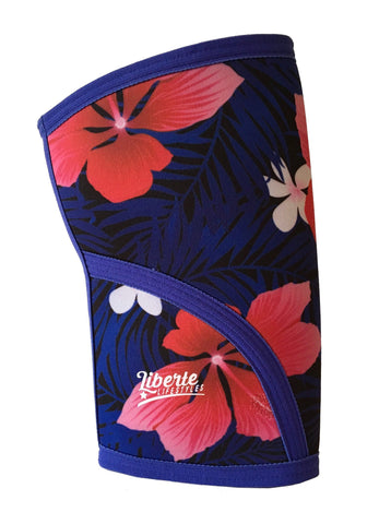 Liberte Lifestyles Knee Sleeves Aloha Floral Print Side