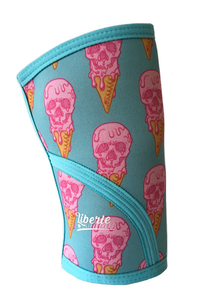 Liberte Lifestyles Knee Sleeves IceScream Skulls Icecream Print Side