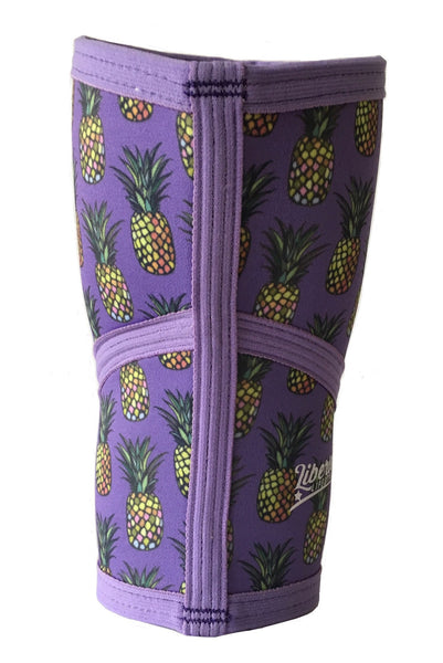 Liberte Lifestyles Knee Sleeves Pineapple Print Rear