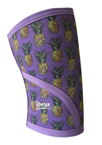 Liberte Lifestyles Knee Sleeves Pineapple Print Side