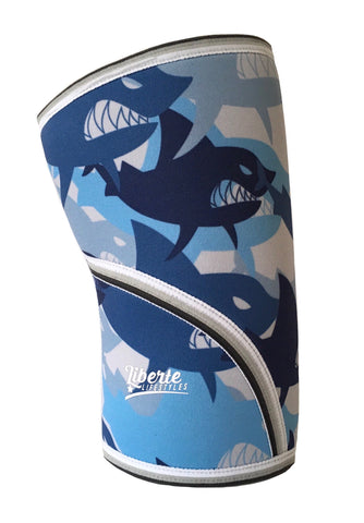 Liberte Lifestyles Knee Sleeve Shark Print Side