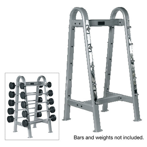 York Barbell ETS Fixed Straight And Curl Bar Rack - Strength Fitness Outlet