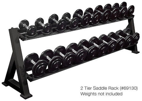 York Barbell 2-Tier Saddle Rack - Strength Fitness Outlet