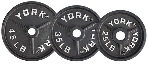 "York Barbell 2"" Deep Dish Cast Iron Olympic Plates - Strength Fitness Outlet"