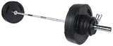 "York Barbell 300lbs 2"" G2 Thin Line Rubber Coated Olympic Set - Strength Fitness Outlet"