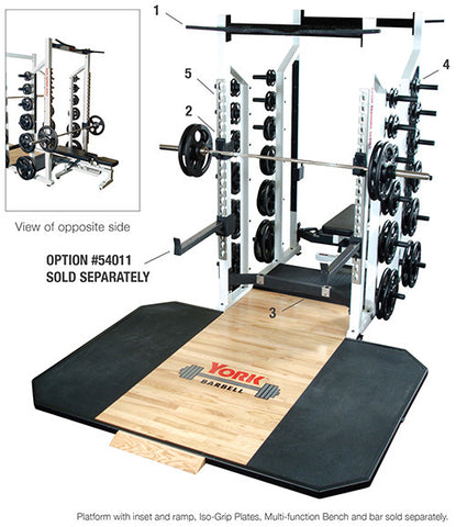 York Barbell Double Half Rack - White - Strength Fitness Outlet