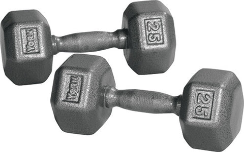 York Barbell Iron Pro Hex Dumbbells - Strength Fitness Outlet