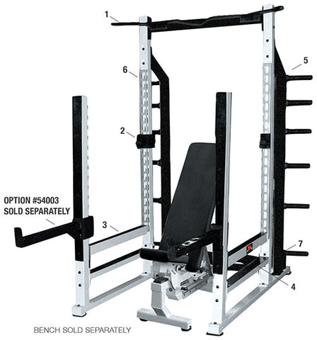 York Barbell Multi-Function Rack - White - Strength Fitness Outlet
