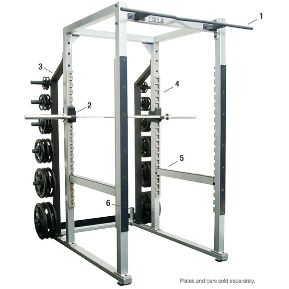 York Barbell Power Rack - White - Strength Fitness Outlet