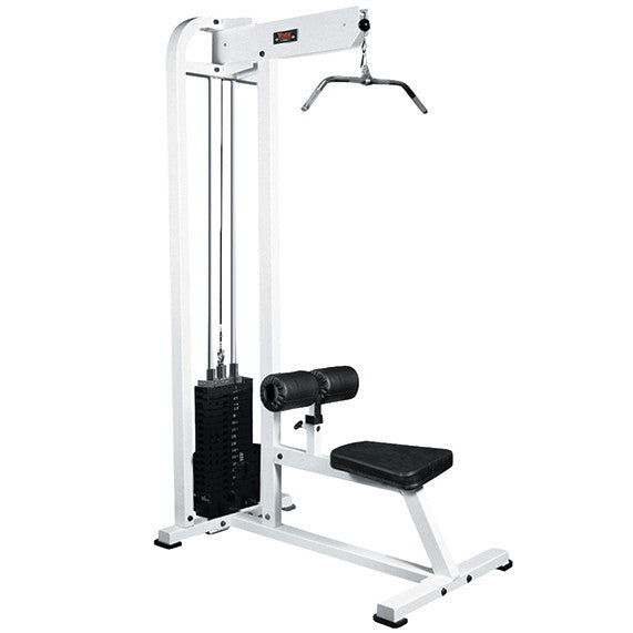 York Barbell Lat Pulldown - White - Strength Fitness Outlet
