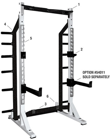 York Barbell Self Standing Half Rack - White - Strength Fitness Outlet