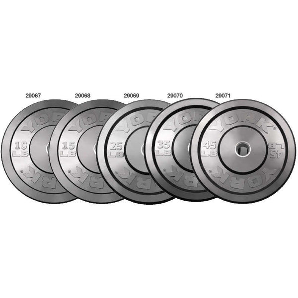 York Barbell Solid Rubber Training Bumper Plates (LBS) - Strength Fitness Outlet