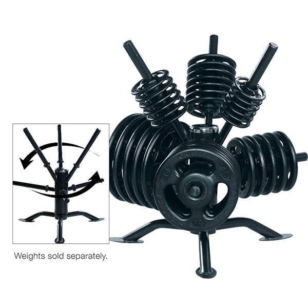 York Barbell Spider Rack Rotational Olympic Plate Rack - Strength Fitness Outlet