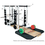 York Barbell Triple Combo Rack - White - Strength Fitness Outlet