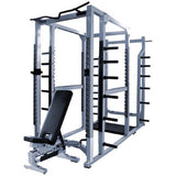 York Barbell Triple Combo Rack - Silver - Strength Fitness Outlet