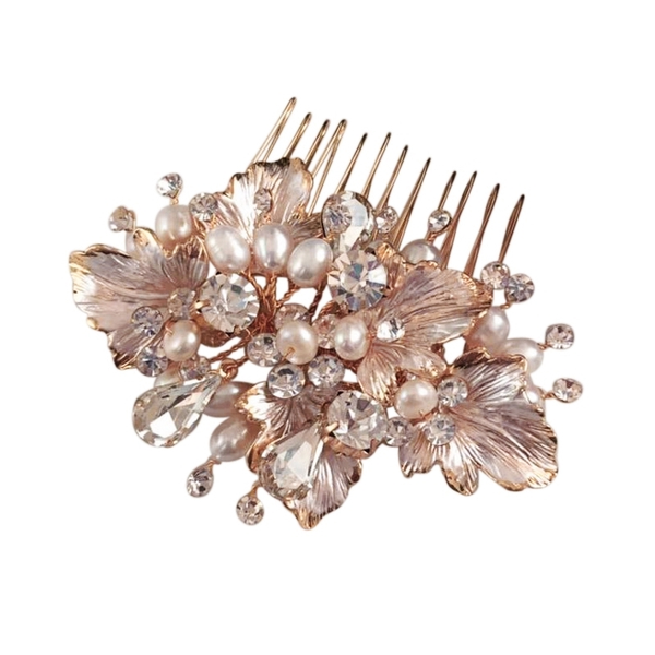 Victoria Rose Gold Hair Comb