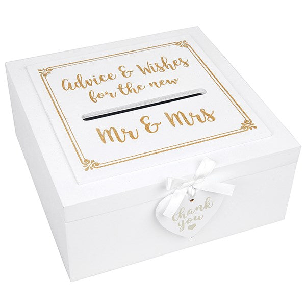 Wedded Bliss Wish Box White