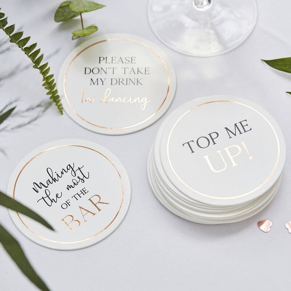 Glass Topper/ Wedding Coasters