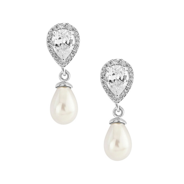 Leslie Pearl Bridal Earrings