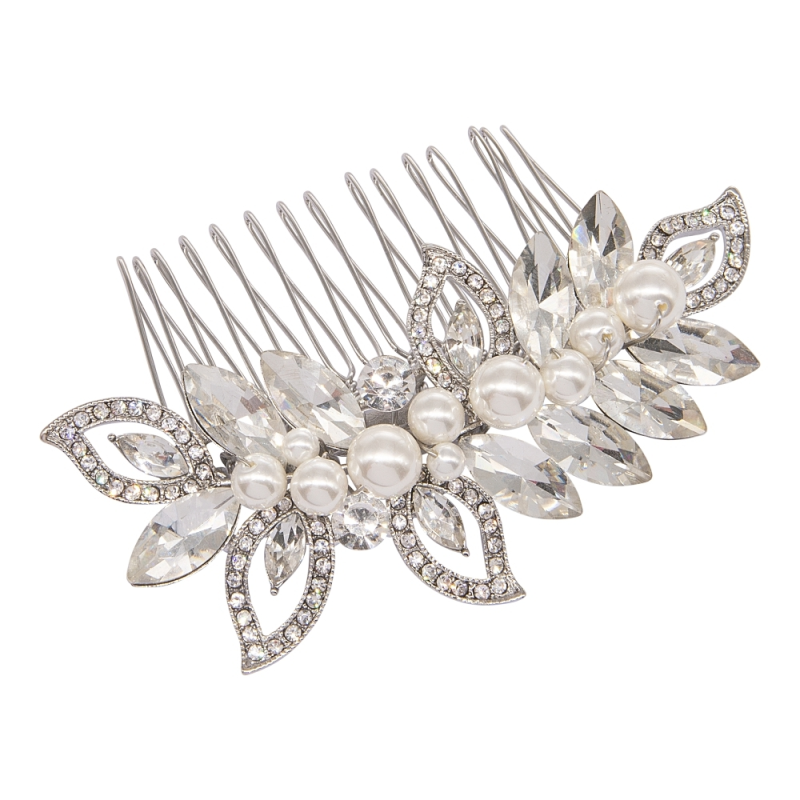 Mila Pearl Shimmer Hair Comb