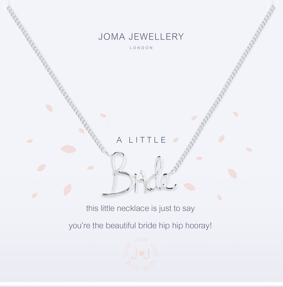 Joma Jewellery 'Bride' Necklace (Bride Gift)