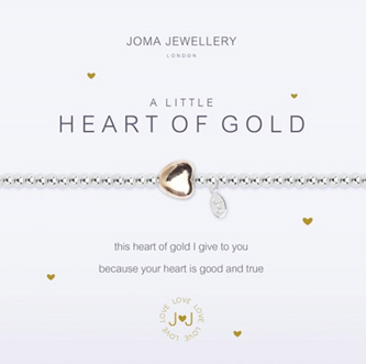 Joma Jewellery 'A little Heart of Gold' Bracelet (Bridesmaid Gift)
