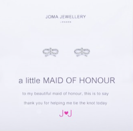 Joma Jewellery 'A Little Maid of Honour' Earrings (Bridesmaid Gift)