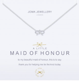 Joma Jewellery ' A little Maid Of Honour' Necklace (Bridesmaid gift)