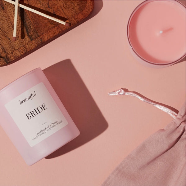 Beautiful Bride Candle Pink | BRIDE TO BE GIFT