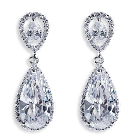 Bacall Drop Bridal Earrings