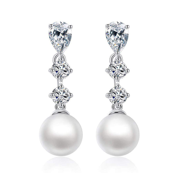 Beatrice Pearl Drop Earrings